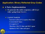 application binary reflected gray codes4