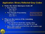 application binary reflected gray codes9