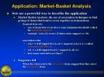 application market basket analysis