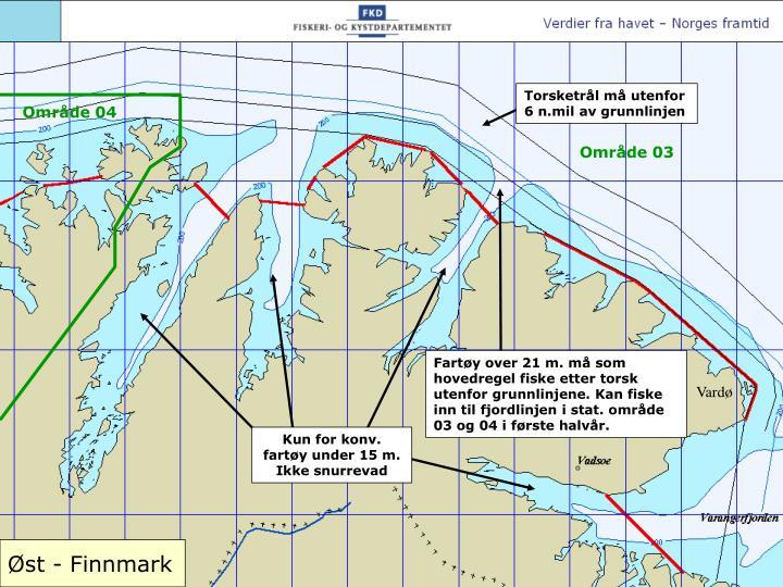 Torsketrål må utenfor 6 n.mil av grunnlinjen