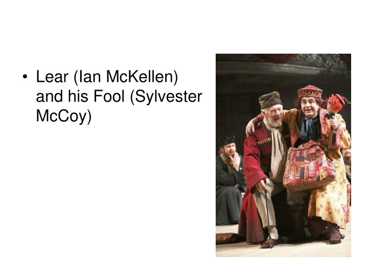 Lear (Ian McKellen) and his Fool (Sylvester McCoy)