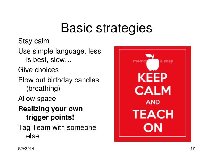 Basic strategies