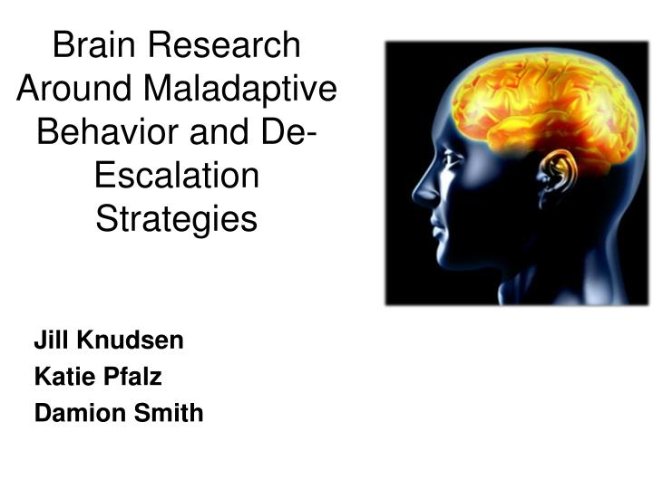 Brain research around maladaptive behavior and de escalation strategies