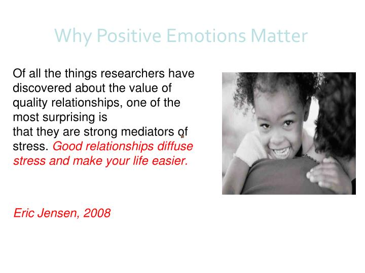 Of all the things researchers have discovered about the value of quality relationships, one of the most surprising is