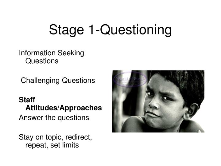 Stage 1-Questioning