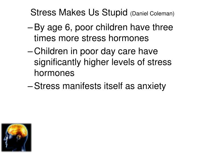 Stress Makes Us Stupid