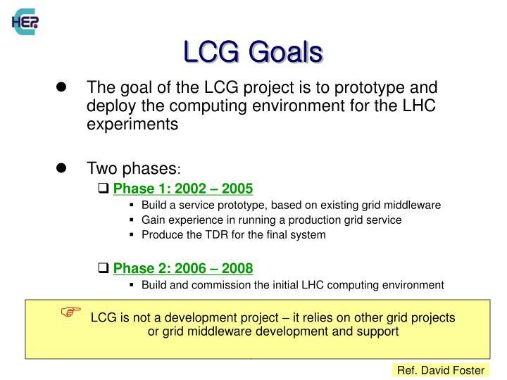 LCG Goals