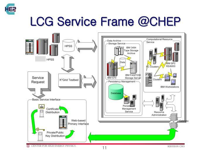 LCG Service Frame @CHEP