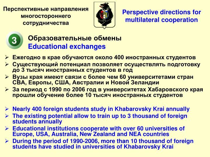 Ежегодно в крае обучаются около 400 иностранных студентов