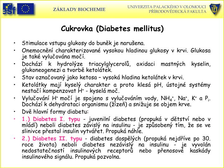 Cukrovka (Diabetes mellitus)