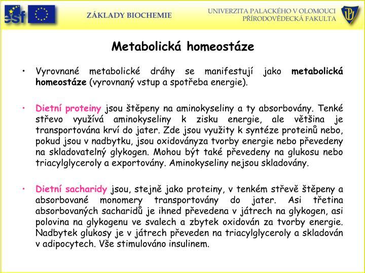 Metabolick homeostze