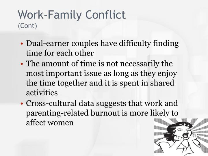 thesis about family conflict Analysis of work family conflict in view of nurses, in health sector of pakistan work family conflict is due to enrichment of work and professional female require.
