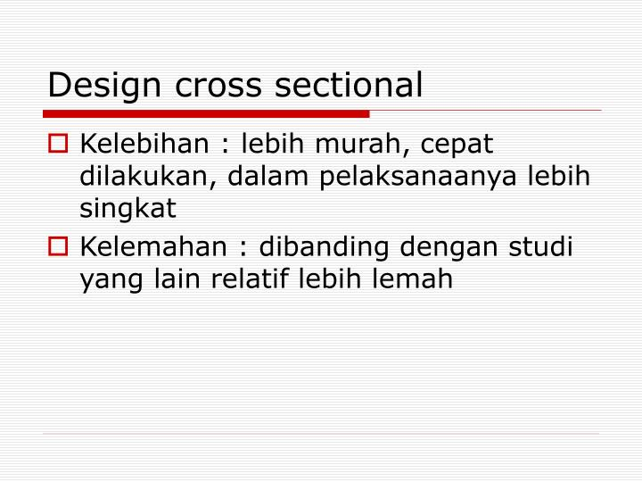 Design cross sectional