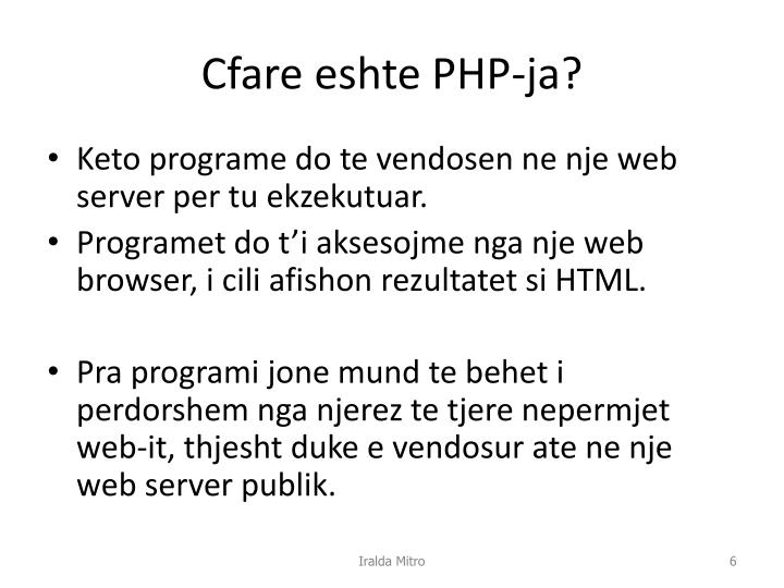 Cfare eshte PHP-ja?