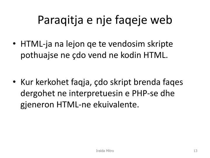 Paraqitja e nje faqeje web