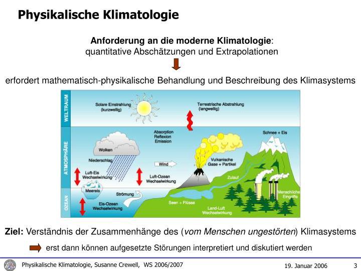 Physikalische Klimatologie