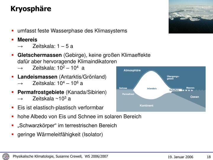 Kryosphäre