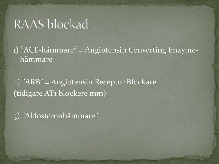 RAAS blockad