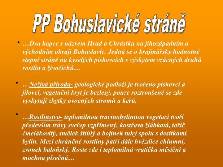PP Bohuslavické stráně