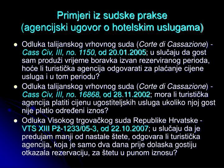 Primjeri iz sudske prakse
