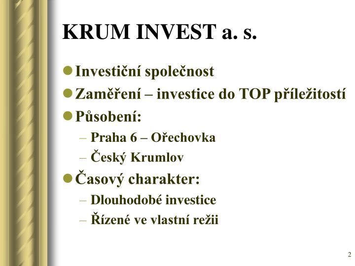 KRUM INVEST a. s.
