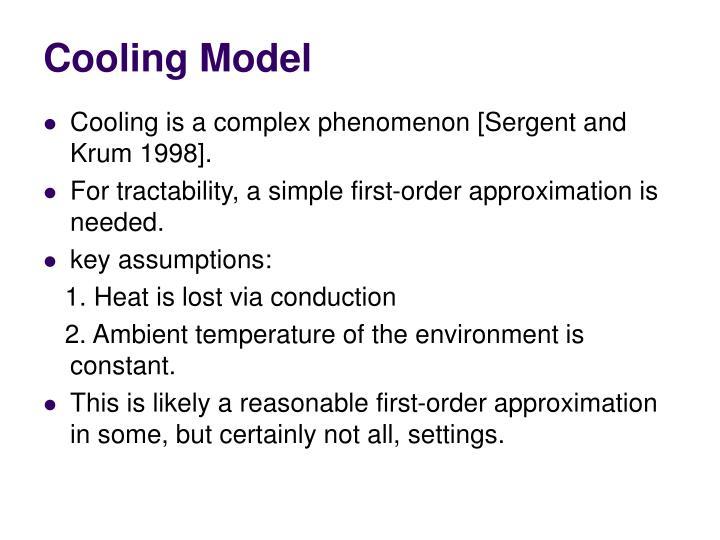 Cooling Model