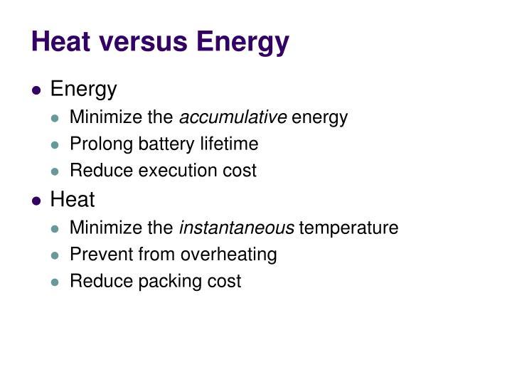 Heat versus Energy