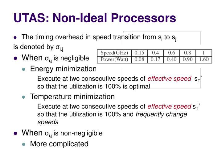 UTAS: Non-Ideal Processors