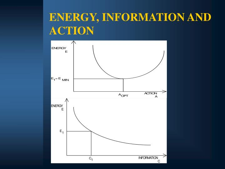 ENERGY, INFORMATION AND ACTION