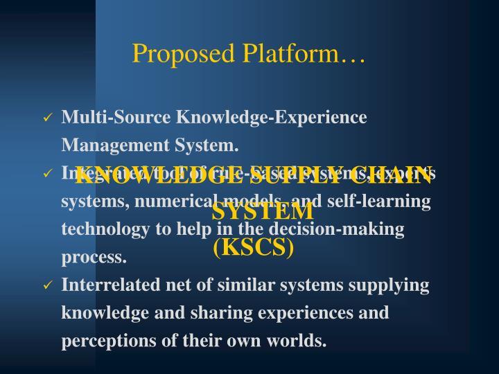 Proposed Platform…