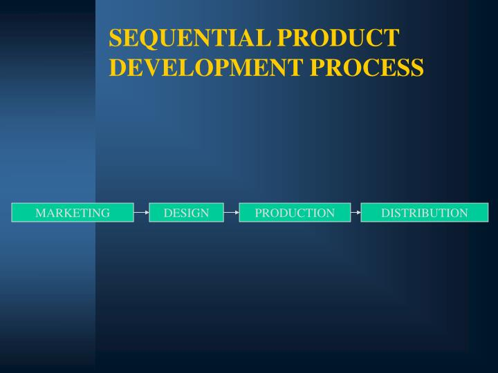 SEQUENTIAL PRODUCT DEVELOPMENT PROCESS