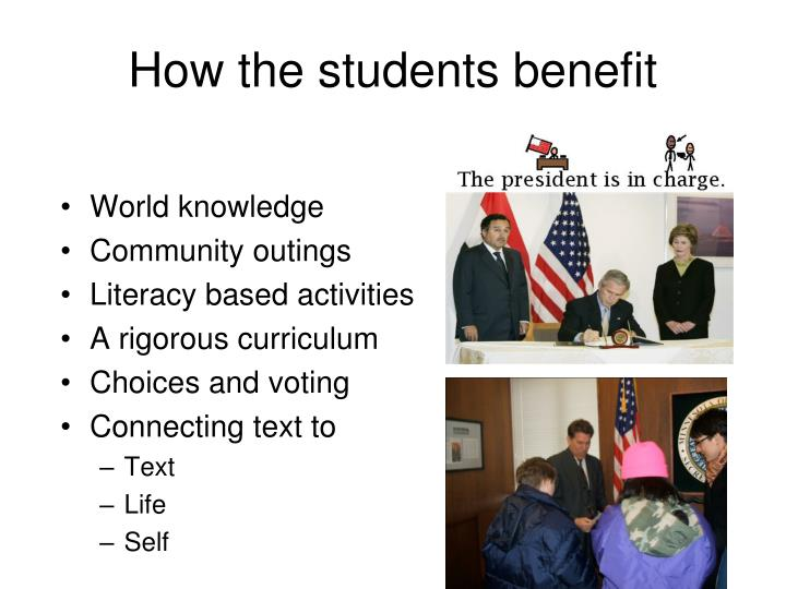 How the students benefit