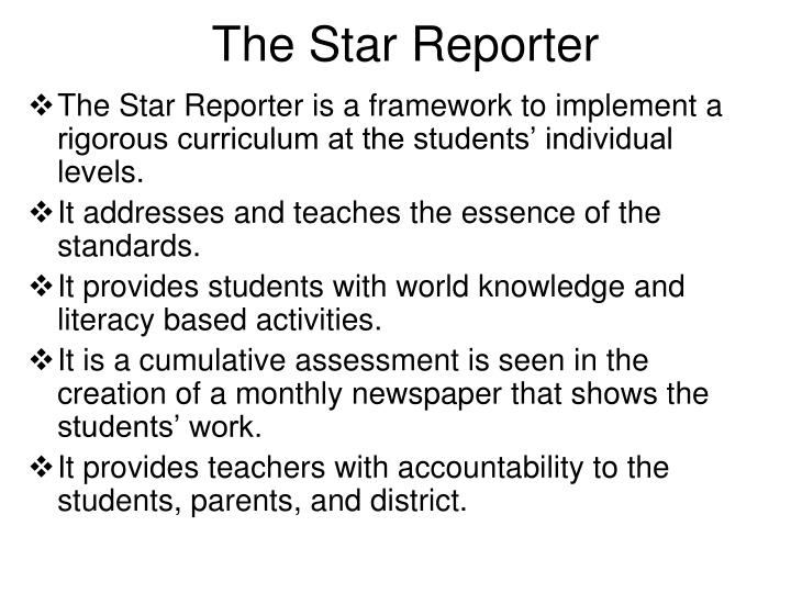 The Star Reporter