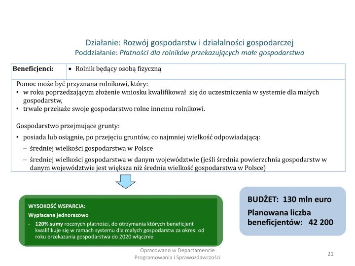 BUDŻET:  130 mln euro