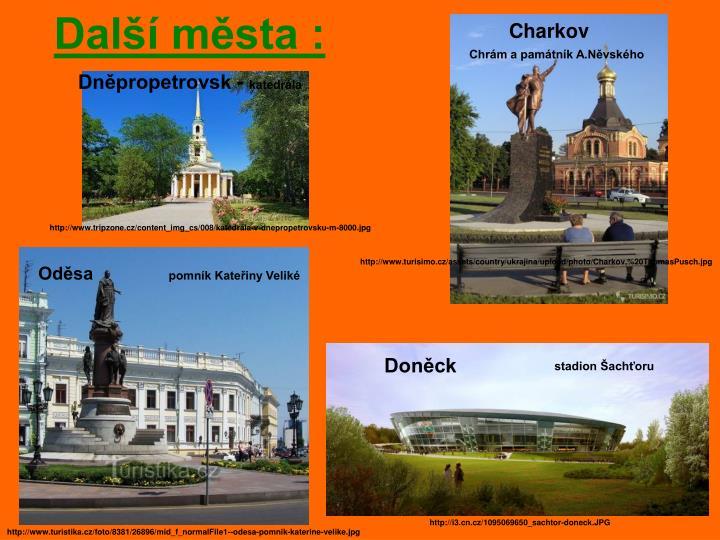 Další města :