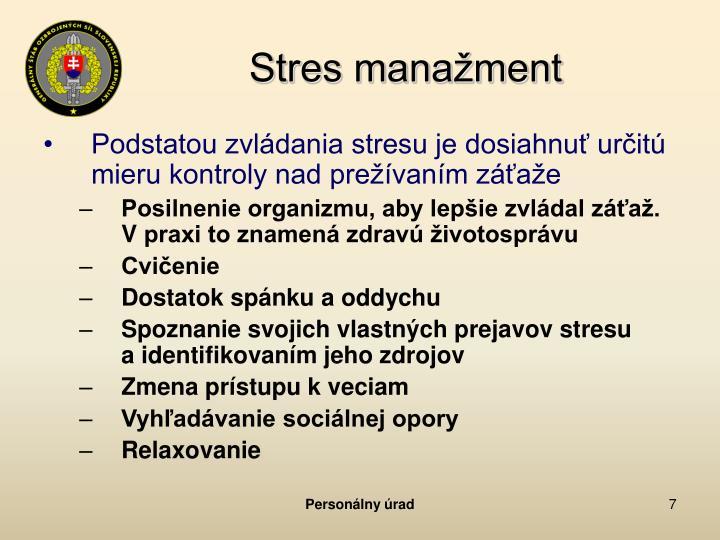 Stres manažment