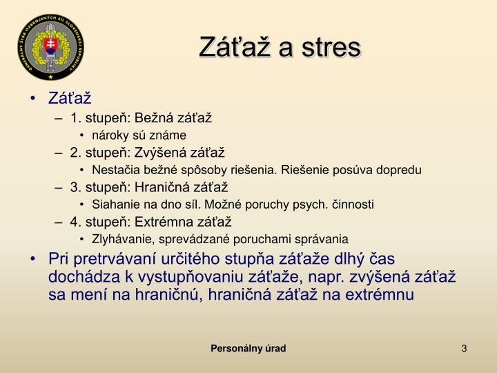 Záťaž a stres