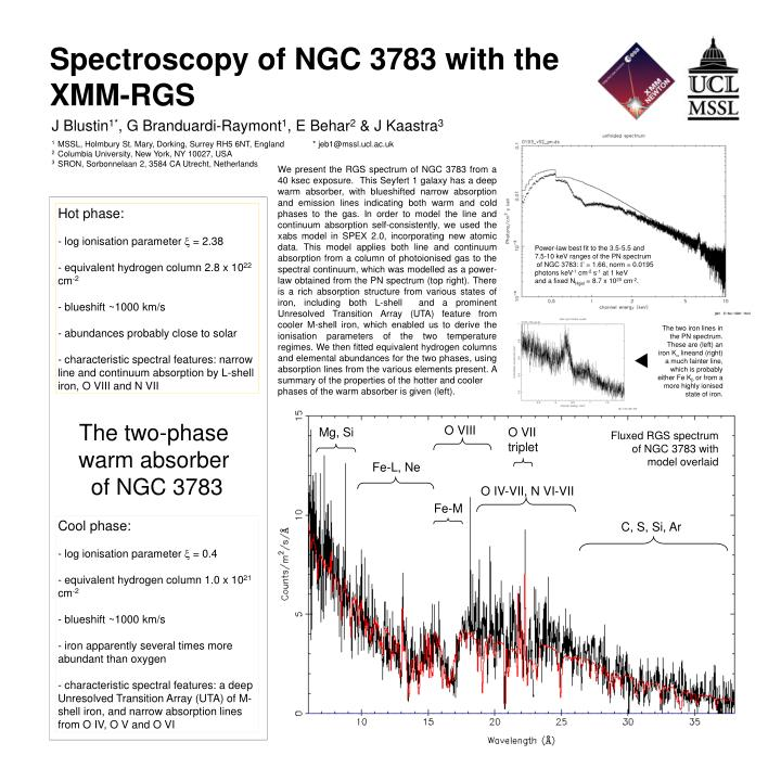 Spectroscopy of NGC 3783 with the XMM-RGS