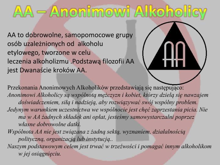 AA – Anonimowi Alkoholicy