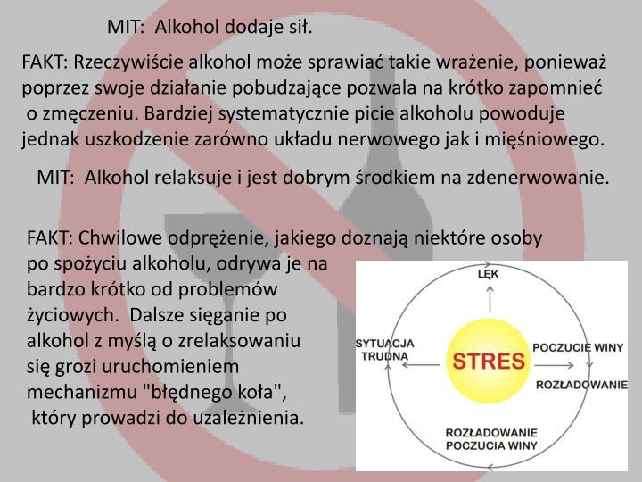 MIT:  Alkohol dodaje sił.