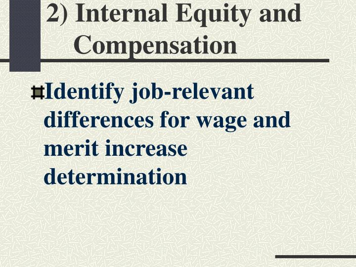 2) Internal Equity and