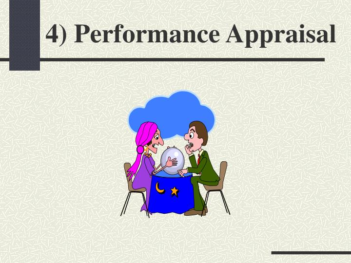 4) Performance Appraisal