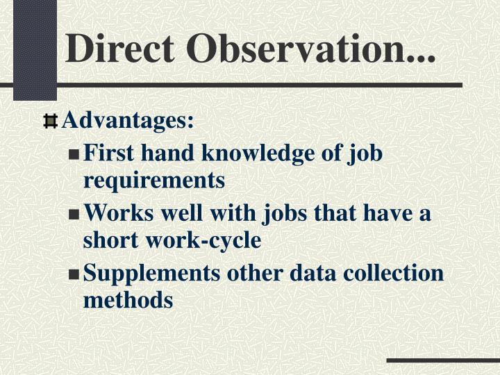 Direct Observation...