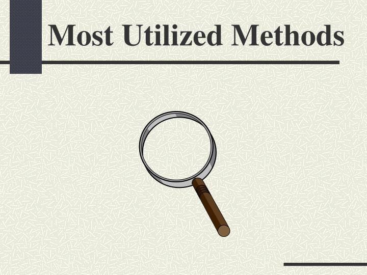 Most Utilized Methods
