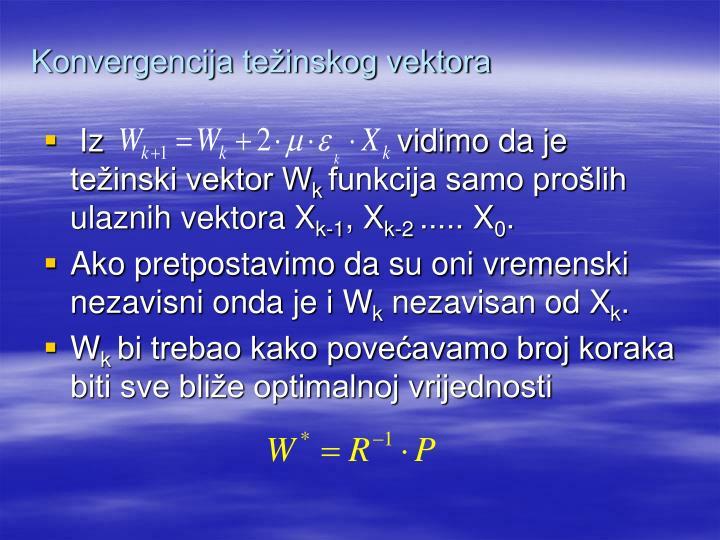 Konvergencija težinskog vektora