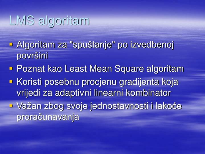 LMS algoritam
