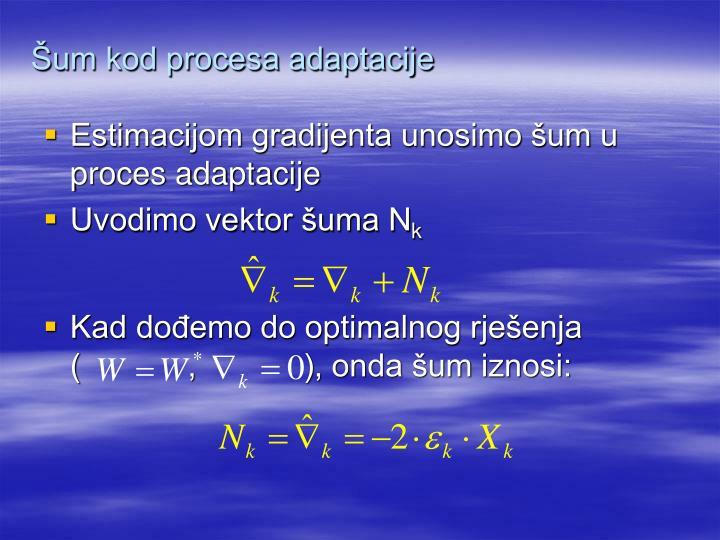 Šum kod procesa adaptacije