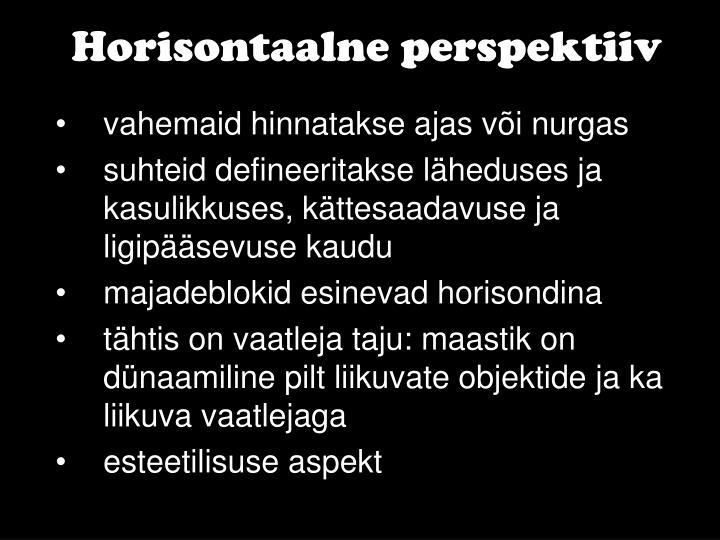 Horisontaalne perspektiiv