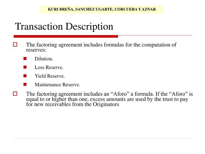 Transaction Description