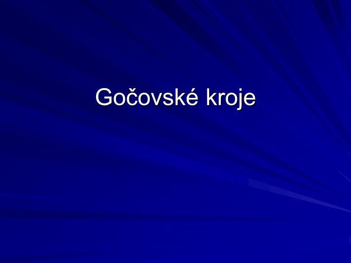 Gočovské kroje